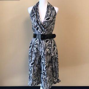 Suzi Chin - Belted Halter Dress